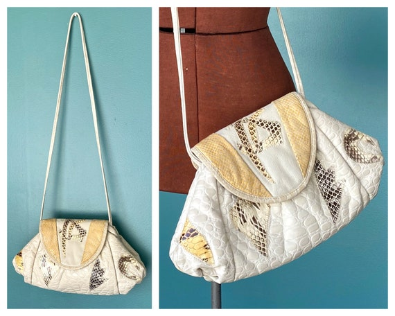 Patchwork Leather Purse 80s Leather Bag, TaraLynEv