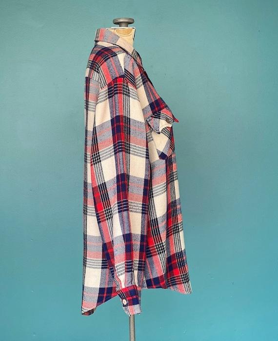 Flannel Shirt Plaid Shirt Vintage Flannel Womens … - image 5