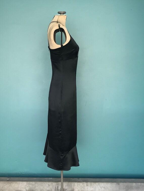 90s Satin Slip Dress Black Slip Dress, TaraLynEva… - image 6