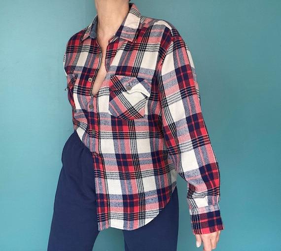 Flannel Shirt Plaid Shirt Vintage Flannel Womens … - image 1