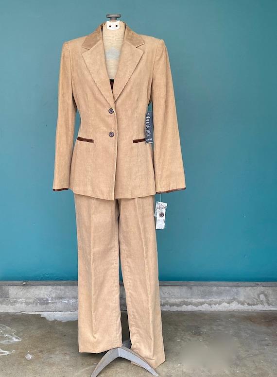 Corduroy Pant Suit Womens Vintage Suit, 28 Waist … - image 2