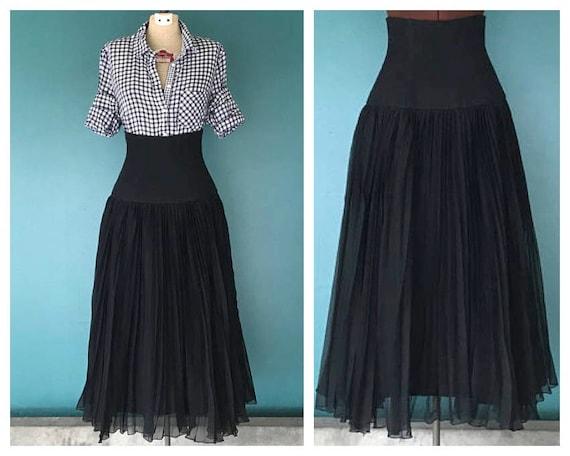 2b7f9fbc47 High Waist Black Gothic Skirt Long Black Skirt Corset Skirt | Etsy