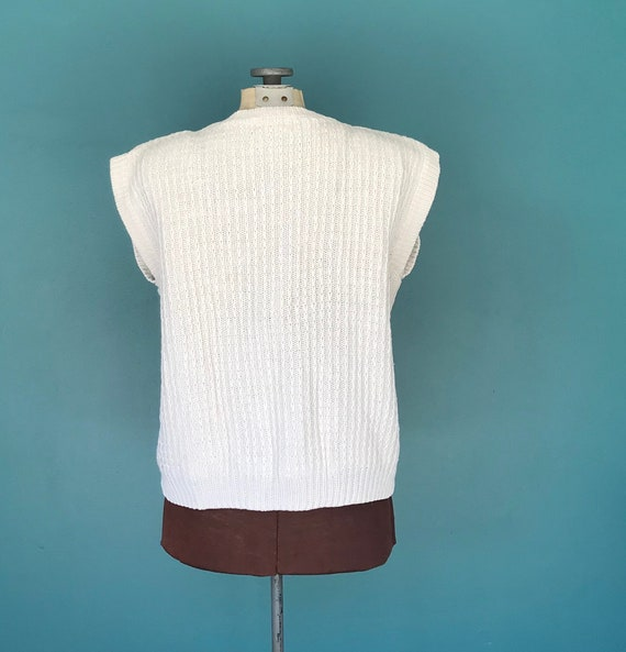 Linen Crochet Top Cable Knit Vintage Top, TaraLyn… - image 8