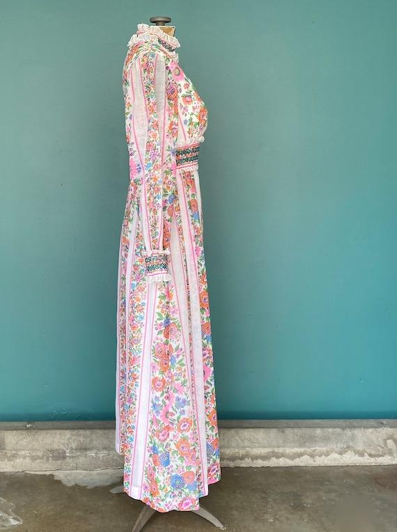 Prairie 70s Floral Cottagecore Folk Dress Vintage… - image 5