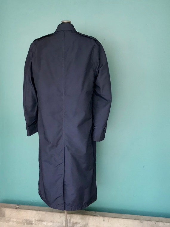 Vintage Trench Coat Navy Military Trench Coat Nau… - image 7
