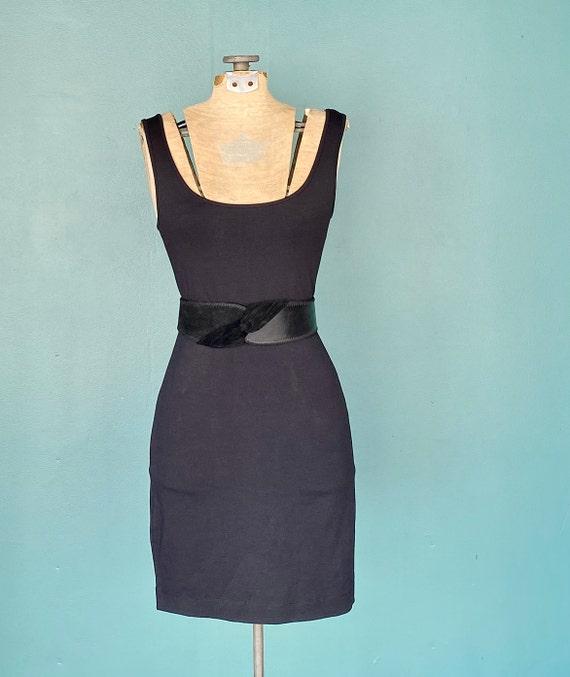 Wide Leather Black Vintage Waist Belt 80s High Wa… - image 5