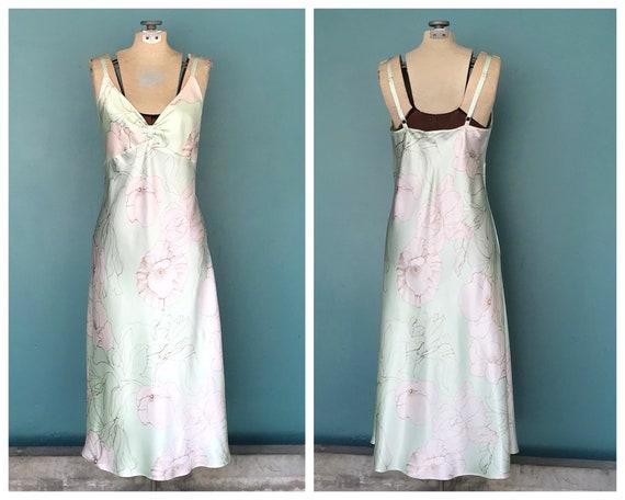 Mint Floral Slip Dress 90s Slip Dress, TaraLynEvan