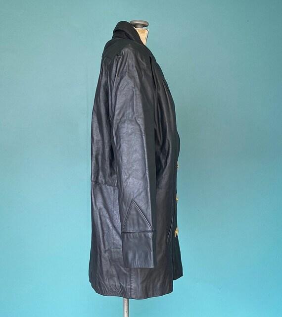 80s Black Leather Jacket Leather Blazer, TaraLynE… - image 4
