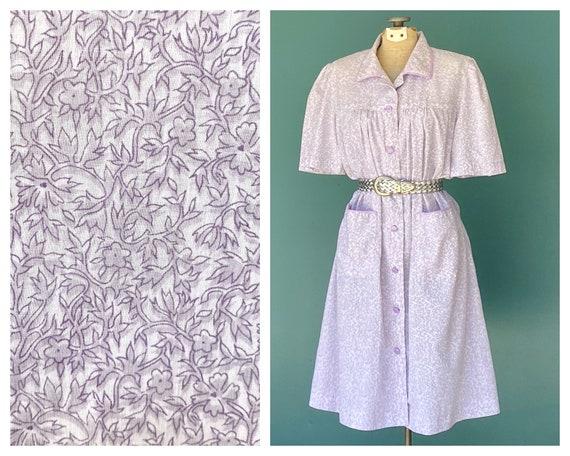 Floral House Dress Summer Shirt Dress, TaraLynEvan