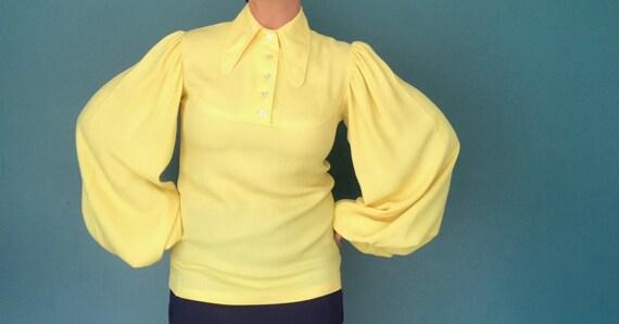 Puff Sleeve Blouse 1970s Poet Sleeve Blouse, TaraL