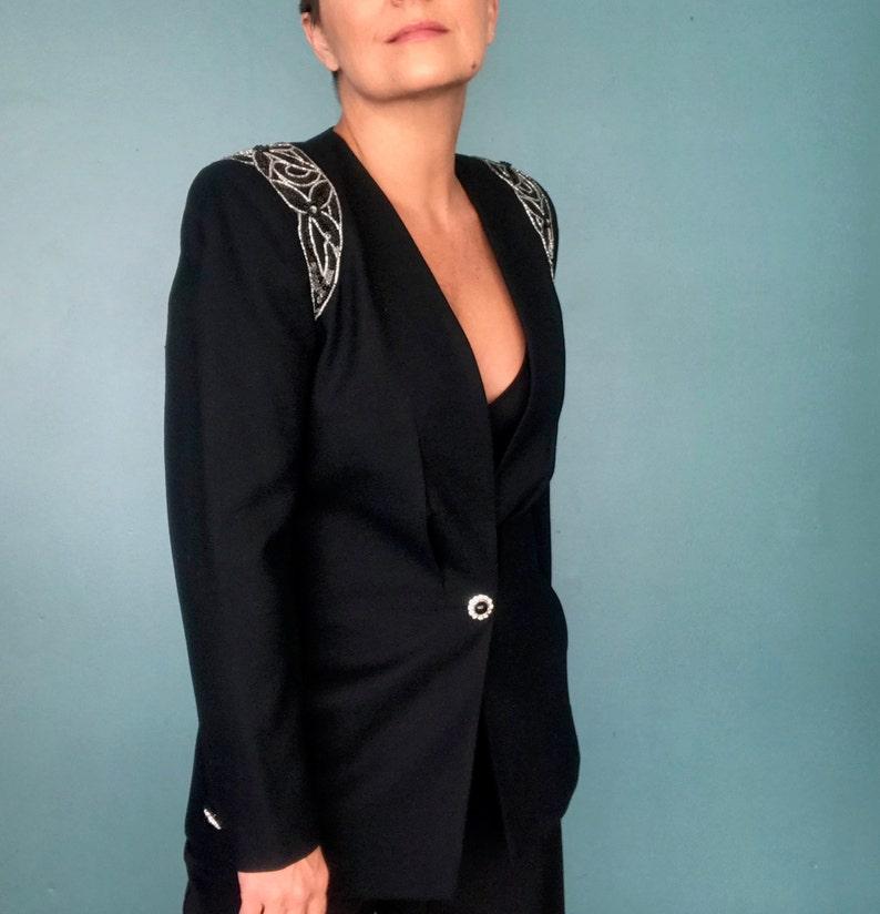 Nolan Miller 80s Black Blazer 80s Long Black Blazer TaraLynEvansStudio