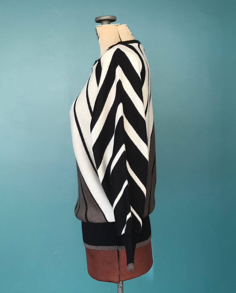80s Striped Sweater Geometric 80s Sweater TaraLynEvansStudio