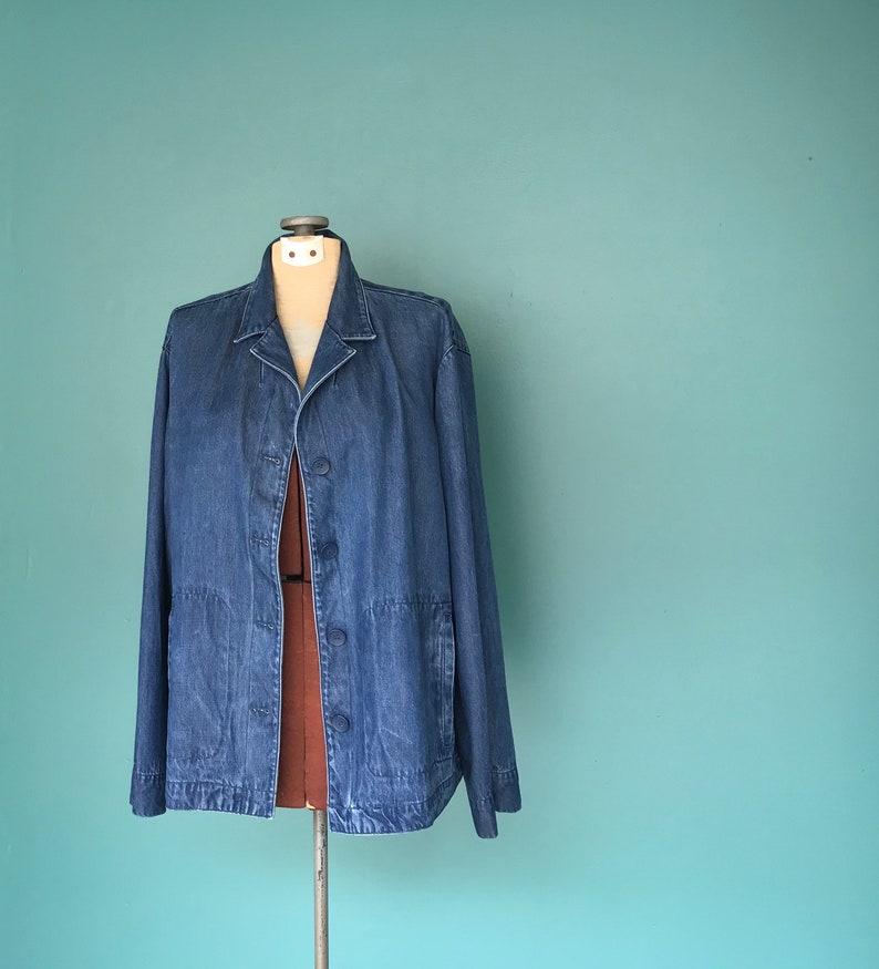aa1ca099584e Denim Chore Coat Women Jean Jacket TaraLynEvansStudio | Etsy
