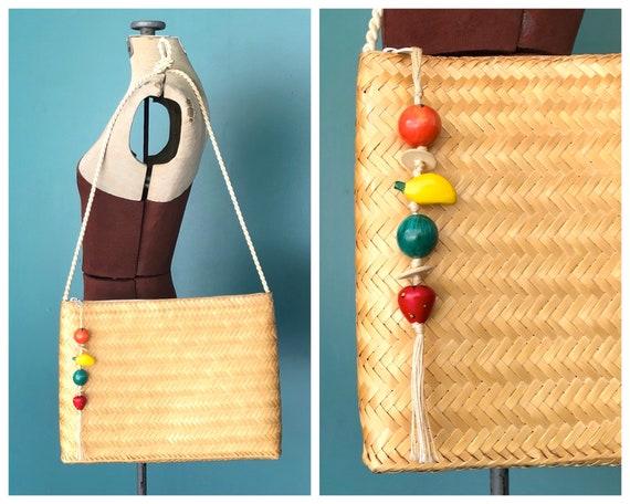 Straw Vintage Bag Woven Straw Shoulder Bag, TaraLy