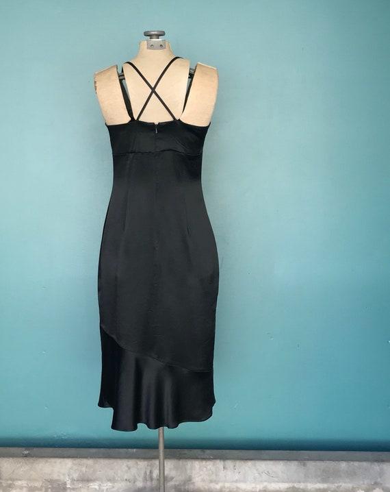 90s Satin Slip Dress Black Slip Dress, TaraLynEva… - image 8