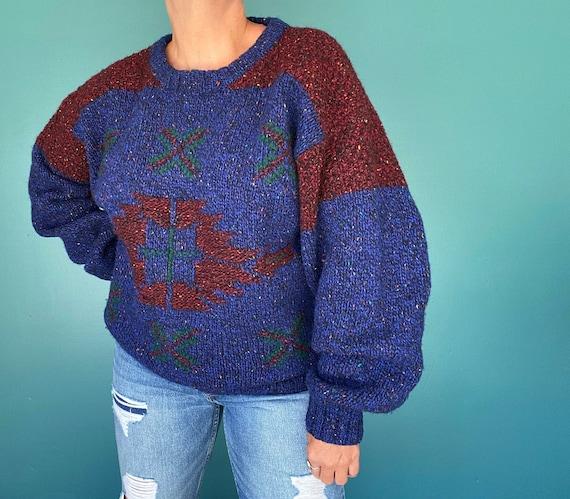 Southwest 80s Sweater Oversized Sweater, TaraLynEv