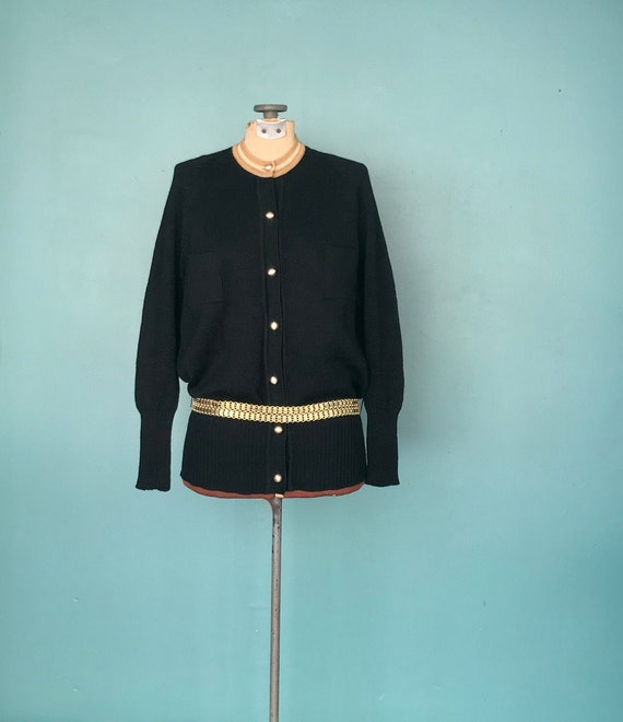 Cardigan Black Sweater 80s Black Cardigan, TaraLyn