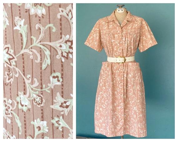 Floral House Dress Vintage Shirt Dress, TaraLynEva