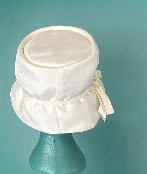 White Vintage 60s Womens Bucket Hat Women Wide Br… - image 6