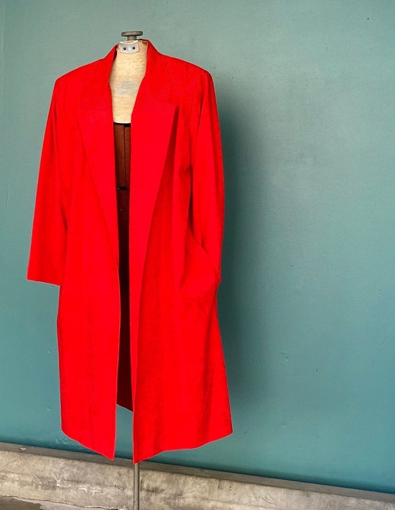 Duster Womens Duster Women Duster Coat Red Coat D… - image 8