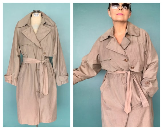 80s Trench Coat Vintage 80s Trench, London Fog, Ta