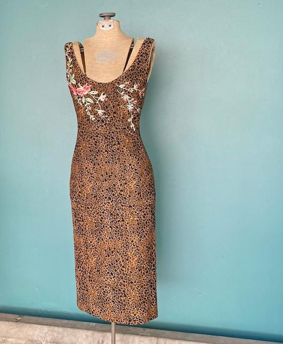 90s Leopard Slip Dress 90s Pencil Dress, TaraLynE… - image 5
