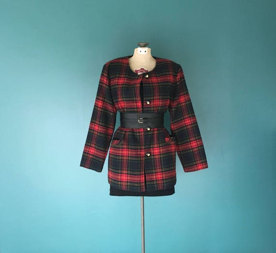 80s Blazer Double Breasted Tuxedo Jacket TaraLynEvansStudio