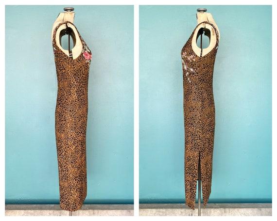 90s Leopard Slip Dress 90s Pencil Dress, TaraLynE… - image 7