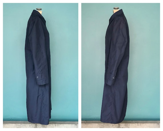 Vintage Trench Coat Navy Military Trench Coat Nau… - image 6