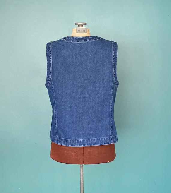 Vintage Denim Womens Jean Vest Denim Womens Vinta… - image 6