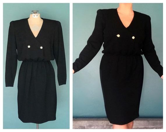 St John Knit Dress Black Knit Sweater Dress, TaraL