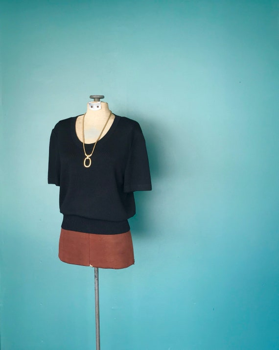 St John Knit Top Black Vintage Knit Top, TaraLynEv