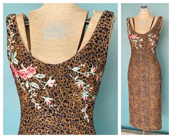 90s Leopard Slip Dress 90s Pencil Dress, TaraLynE… - image 6