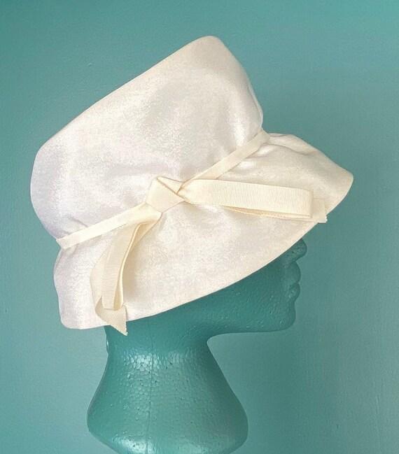 White Vintage 60s Womens Bucket Hat Women Wide Br… - image 7