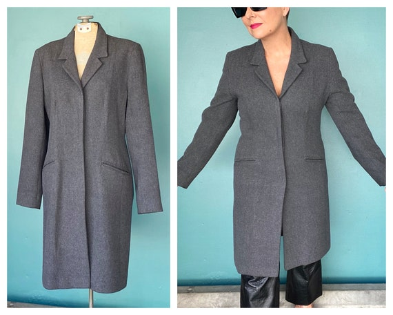 80s Grey Wool Cashmere Vintage Jacket Minimal Womens Light Jacket Vintage Wool Coat Vintage Jacket Women Vintage 80s TaraLynEvansStudio