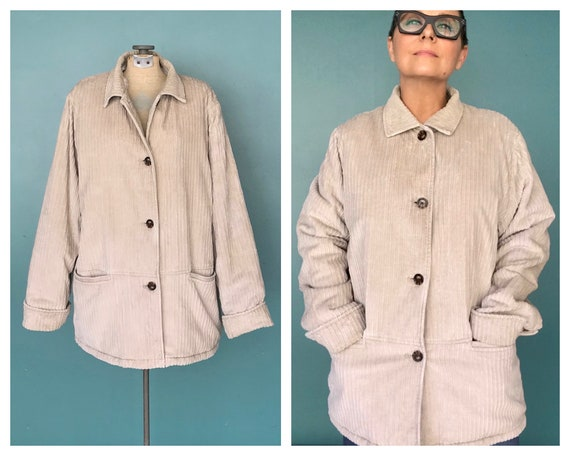 Corduroy Chore Coat 90s Corduroy Jacket, TaraLynEv