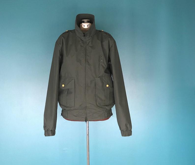 38185f6077b Army Green Rain Jacket Rain Coat Parka Zipper Jacket | Etsy