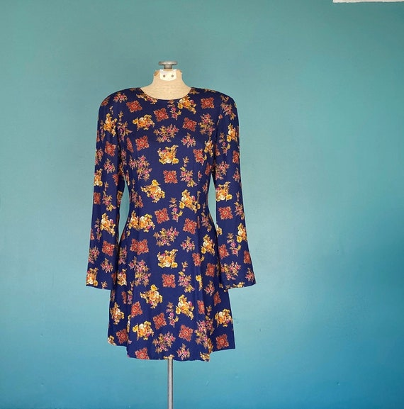 Liz Claiborne 90s Dress Grunge Blue Dress, TaraLyn