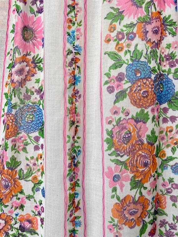 Prairie 70s Floral Cottagecore Folk Dress Vintage… - image 8