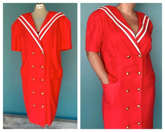 80s Louis Feraud Dress Red Blazer Dress, TaraLynEv