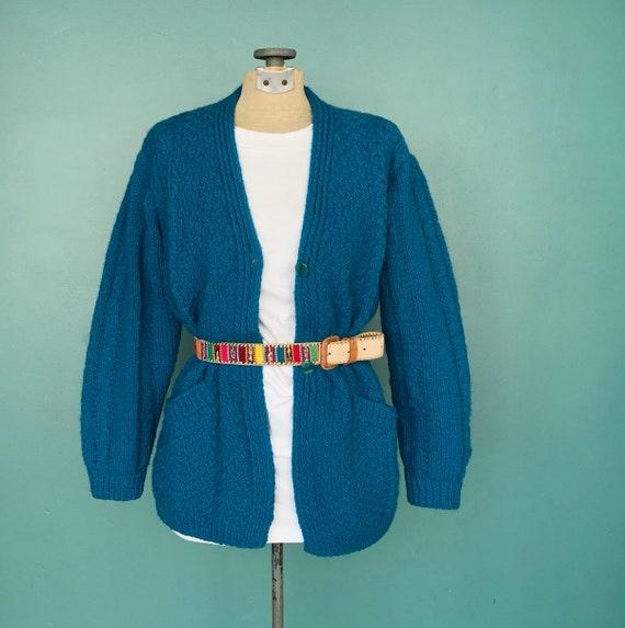 Grandpa Crochet Cardigan Hand Knit Cardigan, TaraL