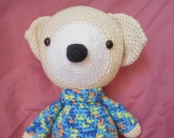 Amigurumi puppy, crochet puppy, crochet dog, baby shower gift