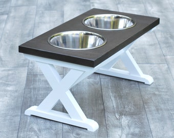 Large - Dog Bowl Stand - Raised Dog Feeder - Elevated Dog Feeder - Dog Feeder - Dog Bowl Holder - Pet Supplies - Dog Food Stand - Pet Stand