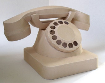 Telephone Papercraft Booklet - DIY Template