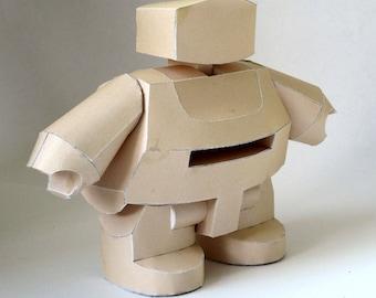Robot Papercraft Booklet - DIY Template