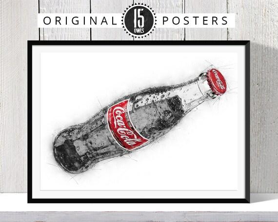 A2 A1 A3 A4 sizes Vintage Coke Cola Christmas Lorry Poster