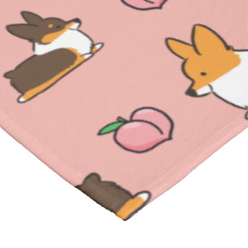 Made to Order Welsh Pembroke Corgi Blanket Small Med or Large Ultra Plush Soft Throw Blanket Pink Tricolor Corgi Sploot Fleece Blanket