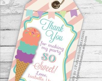 ice cream thank you etsy