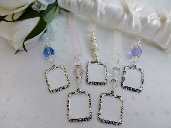Bridal Photo Memory Charm Frame Wedding Bouquet Photo Charm Etsy