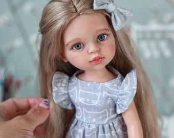 Preorder Custom PAOLA REINA with mohair hair reroot doll in clothes and shoes